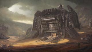горы, Desert Outpost, сооружение, транспорт