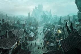 фэнтези, иные миры,  иные времена, жители, постройки, город, concept, art, for, phantasia-land
