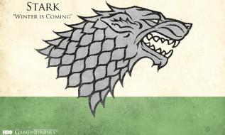 герб, Старк, волк, Игра Престолов, девиз