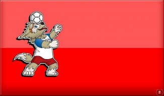 FIFA World Cup 2018, Чемпионат мира по футболу 2018, Забивака, 2018, Россия, Талисман, ЧМ 2018, Спорт, Волк, World Cup 2018, Мяч, Фон, Футбол, ЧМ в России, ФИФА