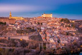города, толедо , испания, город, домики, строения