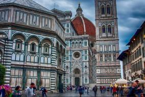 соборная площадь,  флоренция, города, флоренция , италия, дом, здание, город
