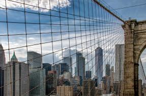 города, нью-йорк , сша, brooklyn, bridge, new, york, manhattan