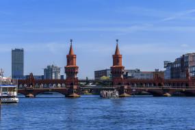 берлин, германия, города, берлин , germany, deutschland, мост, река