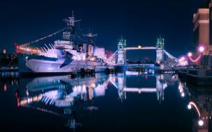 Корабль музей, бельфаст, темза