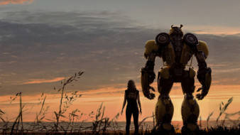 бамблби, 2018, movie, bumblebee, фантастика, постер, хейли cтейнфилд