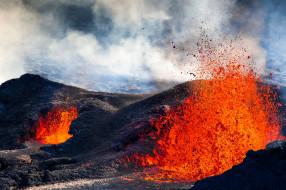 природа, стихия, stones, volkano, molten, red