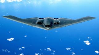 небо, стелс, полет, бомбардировщик, самолет