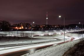 Vilnius, ночь, Lietuva