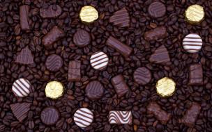 зерна, шоколадные, конфеты, кофейные, ассорти