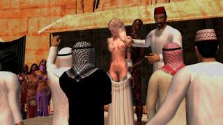 невольничий рынок , slave market, эро-графика, 3д-эротика, девушка, 3д, графика