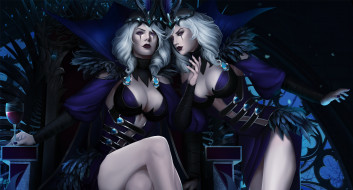 3д графика, фантазия , fantasy, фон, взгляд, девушки