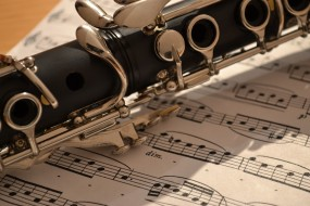музыка, -музыкальные инструменты, ноты, кларнет