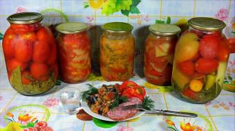 еда, консервация, помидоры, томаты, колбаса