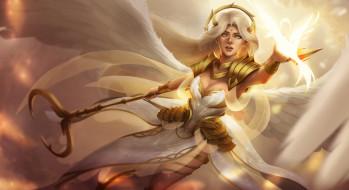 крылья, фэнтези, взгляд, angel, арт, ангел