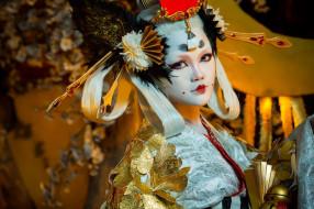 девушки, -unsort , азиатки, азиатка, макияж, стиль, лицо