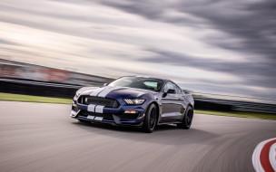 ford mustang shelby gt350 , 2019, автомобили, mustang, тюнинг, экстерьер, купе, американский, суперкар, скорость, вид, спереди, гоночный, трек, new
