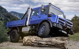 mercedes-benz unimog u4023, автомобили, mercedes trucks, mercedes-benz, unimog, u, 4023, внедорожный, полный, привод, бревно, синий, грузовик