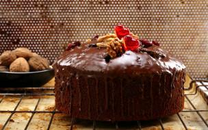 глазурь, орехи, торт