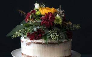 украшение, торт, букет
