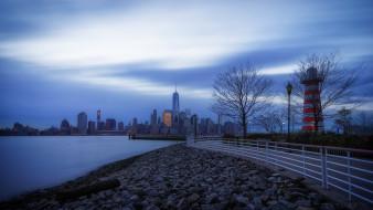 Jersey City, Джерси-Сити, утро, blue