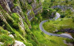 серпантин, дорога, шоссе, горы