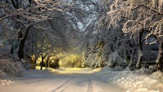Вечер, зима