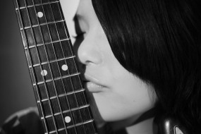 музыка, -другое, девушка, струны, лицо