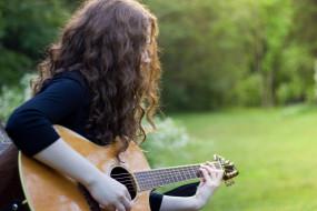 музыка, -другое, природа, гитара, девушка