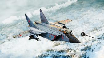 транспортные средства, военные самолеты, миг-31б, wallhaven, истребитель-перехватчик