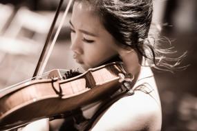 музыка, -другое, скрипка, лицо, девушка