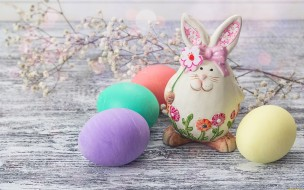 праздничные, пасха, кролик, яйца