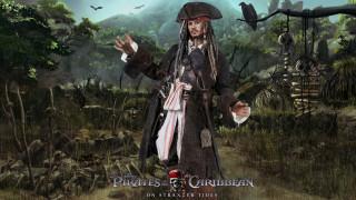 мужчина, треуголка, униформа, пират, взгляд, джунгли