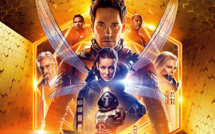 ant-man and the wasp, постер, человек-муравей и оса, 2018, эванджелин лилли, мишель пфайффер, пол радд, майкл дуглас, майкл пенья