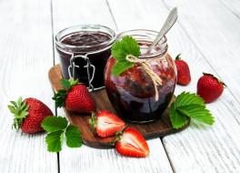 джем, ягоды, клубника