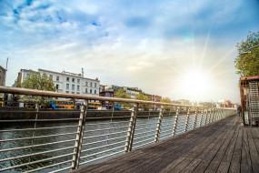 города, дублин , ирландия, река