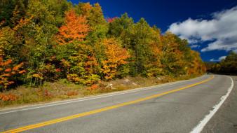 обои для рабочего стола 1920x1080 природа, дороги, шоссе, дорога, осень, поворот