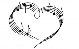 сердце, ноты