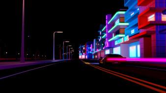 векторная графика, город , city, ночь, синти-поп, darkwave, музыка, город, синти, фон, неон, дорога, electronic, synthwave, synth, pop, машина, авто, retrowave, synthpop