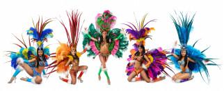 разное, маски,  карнавальные костюмы, фон, взгляд, девушки