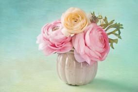 ваза, букет, цветы, лютики