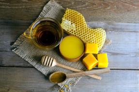 воск, соты, мед