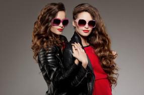 девушки, -unsort , брюнетки, темноволосые, модели, шатенки, куртки, очки