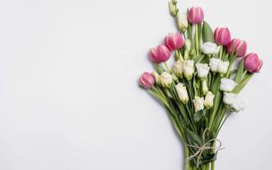 обои для рабочего стола 1920x1200 цветы, букеты,  композиции, эустома, тюльпаны