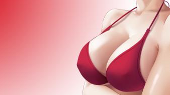 аниме, unknown,  другое , грудь, фон, взгляд, девушка