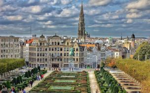 города, брюссель , бельгия, памятник, сквер, дизайн, ландшафтный