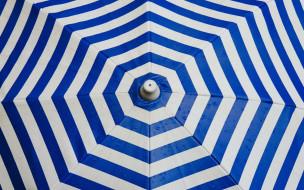 капли, полосы, зонт
