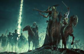 оружие, скелеты, лошади, фэнтези, всадники, арт