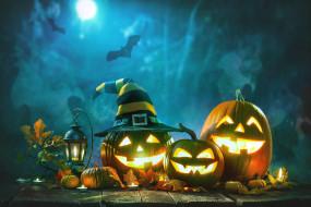 тыква, halloween, ночь