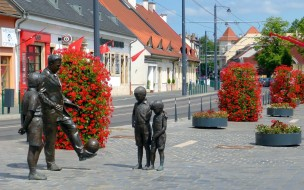 города, будапешт , венгрия, скульптуры
